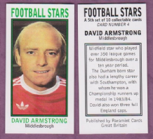 Middlesbrough David Armstrong England
